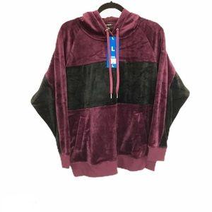 Champion Elite Velour Ladies Hoodie Sweater Large